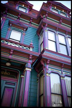 This is one of those extreme paint jobs on Victorian homes. Ha ha, I love it!