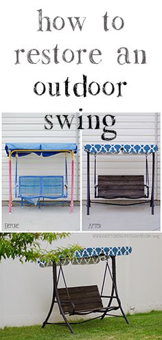How to restore an outdoor child swing. DIY Photography Props.