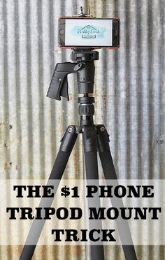 How to make a phone tripod mount for only $1 with this dollar store hack
