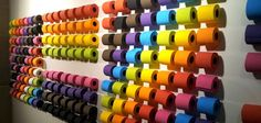 'The Sexiest WC on Earth' - colored wall of toilet tissue @ Terreiro do Paço, Lisbon #Portugal