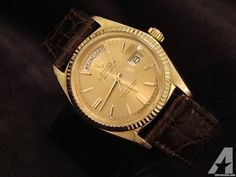 Rolex Day Date President Watch W/leather