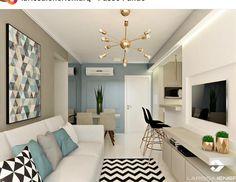 Cheap Home Decor Condo Living, Home Living Room, Apartment Living, Living Room Designs, Living Room Decor, Small Apartment Interior, Condo Interior, Apartment Design, Home Interior Design