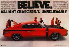 Chrysler Advert - Valiant VH Charger Original Chrysler Adverts: Media: Charger Club of WA Chrysler Charger, Chrysler Cars, Australian Muscle Cars, Aussie Muscle Cars, Chrysler Valiant, Big Girl Toys, Moto Car, Chrysler New Yorker, Sports Sedan