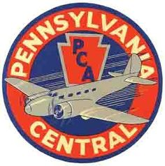 Pennsylvania Central Airlines Vintage-Looking Sticker/Decal/Luggage Label | eBay