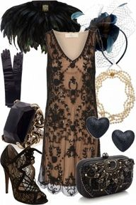 Gorgeous victorian style flapper - very Great Gatsby or Downton Abbey! Something they would wear in the Gatsby Style, Flapper Style, 1920s Style, 1920s Flapper, Trendy Dresses, Fashion Dresses, Prom Dresses, Victorian Fashion, Vintage Fashion