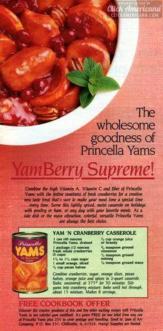 Yam 'n cranberry casserole (1985) - Click Americana