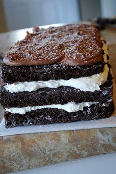 This is the best recipe for Ho-Ho cake that you will find out there! It is a perfect treat for a special occasion or birthday! That creamy filling and chocolate