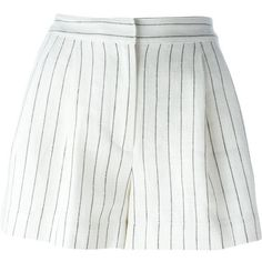 3.1 Phillip Lim Striped Shorts ($184) ❤ liked on Polyvore featuring shorts, bottoms, short, skirts, white, white shorts, 3.1 phillip lim, striped shorts, short shorts and white short shorts