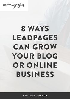 Leadpages is one of my favorite landing page builders out there to grow your email list. Here are some easy design tips to get you started! #MelyssaGriffin #leadpages #emailtips