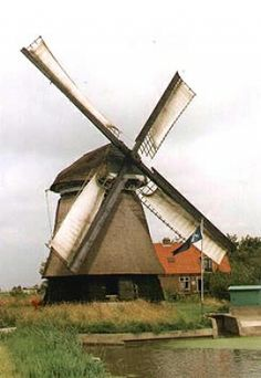 Polder mill Molen O-N of Ooster-N, Schagerbrug, the Netherlands.