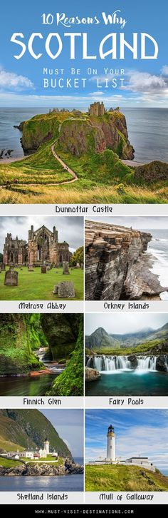Are you wondering which travel destination you should visit this year? Here are 10 Reasons Why Scotland Must Be On Your Bucket List. destinations bucket lists dream vacations The Best Places to Travel in 2017 Vacation Destinations, Dream Vacations, Vacation Spots, Scotland Destinations, Holiday Destinations, Vacation Places, Best Places To Travel, Oh The Places You'll Go, Places To Visit
