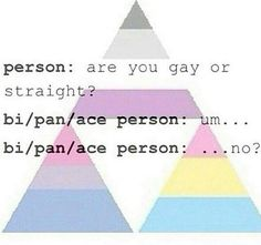 And then you have to explain that there are more than two sexualities and get all the comments -.-