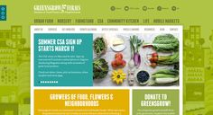 Greensgrown Farms Website Design  http://sarahlynndesign.com/blog/article/health-wellness-websites-design-inspiration#