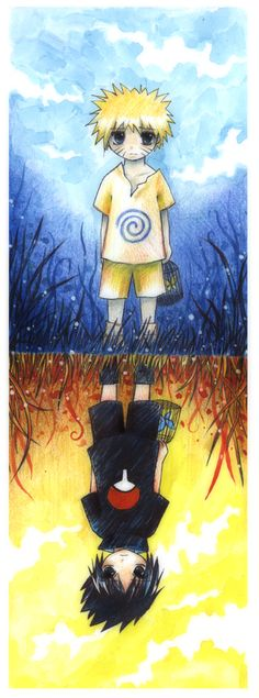 Naruto and Sasuke by *Radittz on deviantART