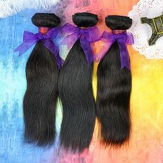 $70.21 30 Inches Stylish Human Hair Long Straight Hair Extension For Women