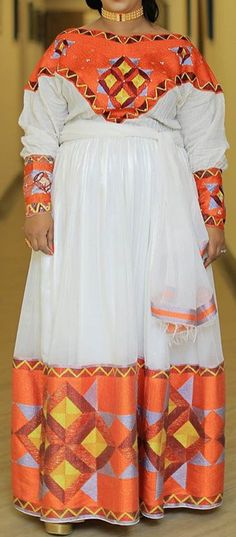 Etiopia, Ethiopian Traditional Dress, Ethiopian Dress, Eritrean, Queen Fashion, Traditional Clothes, Israel, Cloths, Daughter