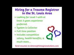 trauma registrar sample resume himagine solutions inc Trauma Registry Division is Hiring . Healthcare Jobs, Free Resume, Trauma, Division, Health Benefits, Sample Resume, Health Care, Positivity