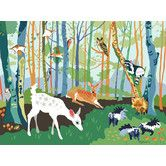 Found it at Wayfair Supply - Meeting in the Woods Wall Mural
