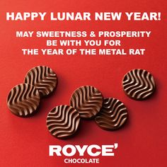 From us at ROYCE' Chocolate, we wish everyone luck and all the best for an auspicious new Lunar Year ahead! Chocolate Covered Potato Chips, Chocolate Covered Almonds, Chocolate Strawberries, Royce Chocolate, Chocolate Mix, Chocolate Lovers, Japanese Chocolate, Father's Day Specials, Happy Lunar New Year