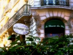 La Closerie des Lilas in Paris, France - Picasso, Cezanne and Apollinaire used to chat at this fancy café. So did Hemingway-- you can still sit at his favorite bar stool.
