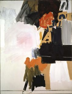 Robert Rauschenberg - 1960, Summer Rental 1. Combine: oil, printed paper, fabric, and charcoal on canvas (177.8 x 137.2 cm)