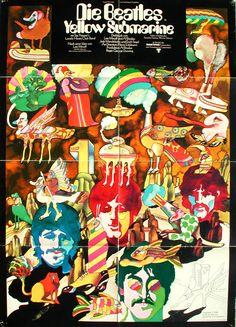 Heinz Edelmann /  Yellow Submarine Beatles poster