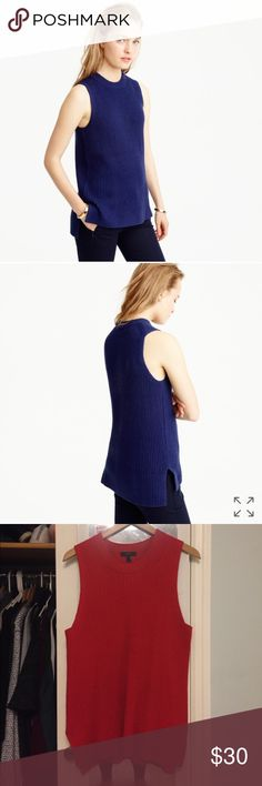 JCREW Sleeveless tunic sweater SOLD OUT ONLINE! Beautiful, never worn & great condition!! J. Crew Tops