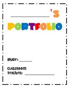 Portfolio cover page toddler copy pre school pinterest for Educational portfolio template