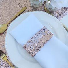 Rose Gold Pailletten Serviettenhalter perfekte Ergänzung zu
