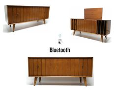Zenith Stereo Console Louver doors