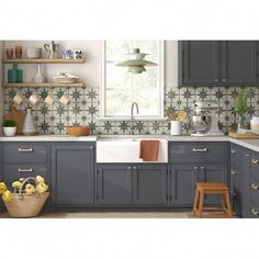 My room that is favorite in house! Decor inspiration/ideas for the kitchen with my favourite design styles: French / Vintage / Industrial / Beachy / Shabby Chic Farmhouse Sink Kitchen, Diy Kitchen, Vintage Kitchen, Kitchen Decor, Kitchen Cabinets, Kitchen Sink, Kitchen Ideas, Kitchen Designs, Kitchen Hacks