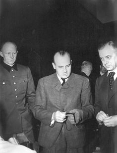 Three of the defendants sentenced to death at the Nuremberg Trials