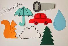 Ystäväni pyysi minua tekemään muotit lorupussikorttien sarjatuotantoa varten. Hän työskentelee kirjastossa, ja pieni tyttö oli satutunnilla... Cookie Cutters, Diy And Crafts, Photo Illustration