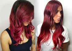 Look ravishing with bright red hair dye 63 Hot Red Hair Color Shades to Dye for: Red Hair Dye Tips & Ideas Hair Color Red Highlights, Hair Color Purple, Color Your Hair, Hair Color Balayage, Hair Color For Black Hair, Bright Red Hair Dye, Dyed Red Hair, Dyed Tips, Hair Dye Tips