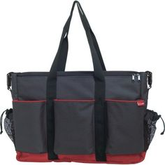 Skip Hop Duo Side by Side Diaper Bag - Charcoal/Red Piping & Base by Skip Hop. $80.00. The Skip Hop DUO's multitude of pockets and compartments easily organize diapers, bottles, sippy cups, food and toys, while keeping your phone, camera, wallet, keys and other personal items safe and dry. The DUO features our patented Shuttle Clips, allowing it to quickly and easily convert from a shoulder to a stroller bag. When attached to the stroller, you can leave the shoulder strap at...