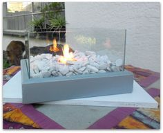 Easy to DIY Portable Fire Feature ~ Adds a lovely atmosphere indoors or outdoors