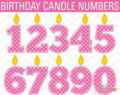 50 Off SALE Clip Art Birthday Candle Numbers by SonyaDeHartDesign, $2.50