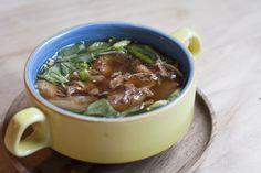 Duck Soup  with Asian greens & Enoki mushrooms  Full menu: http://www.kahluacoffeehouse.com/menus