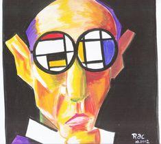 Piet Mondrian....self portraits.  1872 - 1944. Born Amersfoot, Netherlands. Painting, De Stijl