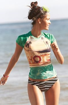 W Swimwear Photo Rashguard | Nordstrom