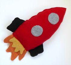 Cashmere Rocket Ship Soft Toy Cashmere by OgsploshAccessories