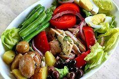 Beautiful tuna Nicoise Salad.