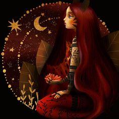 Taurus Art Print by aodesigns Disney Characters, Fictional Characters, Aurora Sleeping Beauty, Canvas Prints, Colours, Disney Princess, Illustration, Mermaids, Inspiration