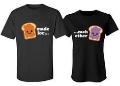 Rose and Jack, Allie and Noah, You and the pb to your j. Get you and your boyfriend or girlfriend cute matching couple t-shirt to show off your love! Just like peanut butter and jelly! Matching Couple Shirts, Couple Tshirts, Matching Couples, Matching Family Outfits, Cute Couple Outfits, Couple Clothes, Christmas Party Outfits, Christmas Gifts, Bff Shirts
