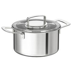 IKEA Pot with lid, stainless steel, glass. Find it here - IKEA Glass Ceramic, Ikea 365 Cookware, Inspiration Ikea, Safe Glass, Electric Cooktop, Heat Resistant Glass, Ikea Family, Glass Cooktop, Glass