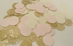 Rose Gold Blush Pink & Cream Confetti by SignsationalSayings, $5.00