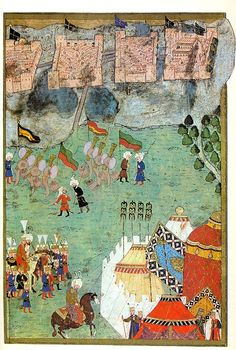 Siege of Szigetvár, 1566, Hünernâme of 1588 by Lokman