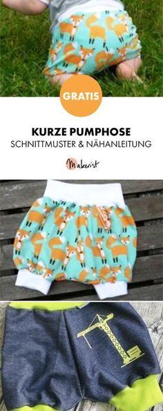 Gratis Anleitung: Kurze Pumphose selber nähen - Schnittmuster und Nähanleitung via Makerist.de