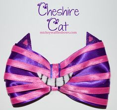 Cheshire Cat Hair Bow by MickeyWaffles on Etsy, $8.00 @Lauren Davison Davison Davison Davison Johann