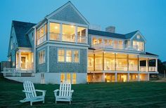 I Love this house with LOTS of windows and a HUGE wrap around porch. Future House, My House, Open House, Exterior, My Dream Home, Dream Homes, Renting A House, Beautiful Homes, Beach House